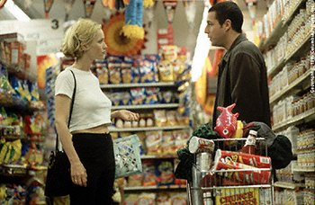 Corinne ( Leslie Mann ), a Hooters-waitress turned doctor, argues with Sonny ( Adam Sandler ) in Big Daddy