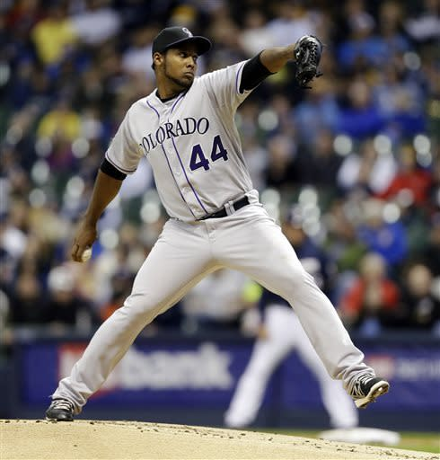 Nicasio, Rockies beat Brewers 7-3