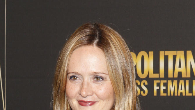 FILE - In this Oct. 18, 2010 file photo, actress Samantha Bee arrives for the 50 and Fabulous Benefit Gala in New York. TBS announced Thursday, March 5, 2015, that it is giving Bee her own topical comedy show.  (AP Photo/Jason DeCrow, File)