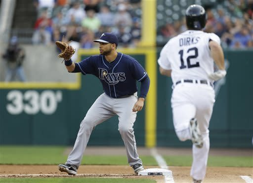 Rays score 3 in 9th to beat Tigers 3-0