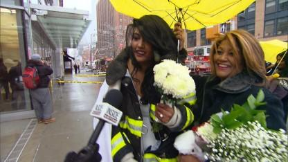 Bride in Wedding Dress Escapes Crane Collapse; Gets Married by FDNY Chaplain