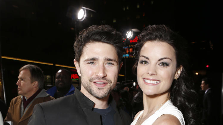 "Matt Dallas and Jaimie Alexander attend the LA premiere of ""The Last Stand"" at Grauman's Chinese Theatre on Monday, Jan. 14, 2013, in Los Angeles. (Photo by Todd Williamson/Invision/AP)"