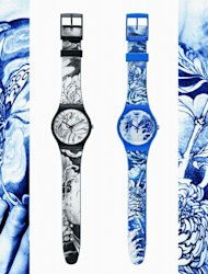 Watches designed by the French tattoo artist Tin-tin