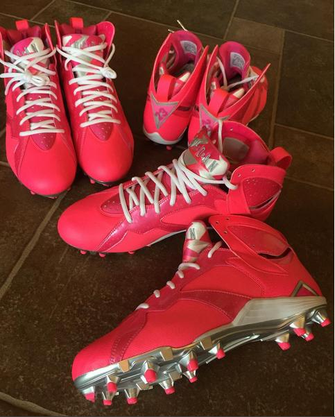 "Joe Haden Got a Pair of ""Pink"" Jordans to Promote Breast Cancer Awareness"