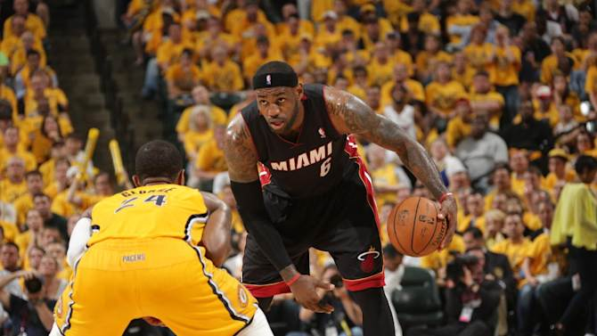 James helps Heat beat Pacers 87-83 in Game 2