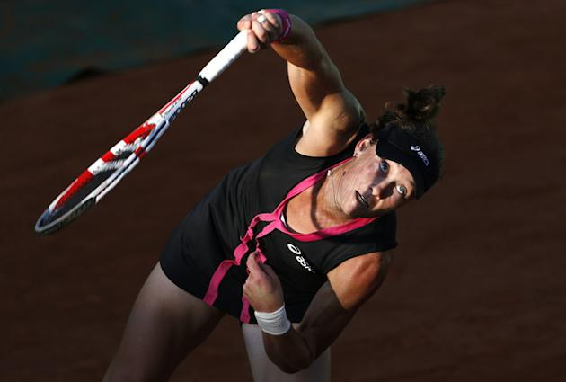 Australia's Samantha Stosur Serves AFP/Getty Images