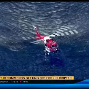Report recommends getting third fire helicopter