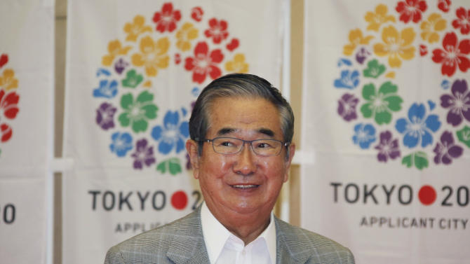 Tokyo Gov. Shintaro Ishihara, chairman of Tokyo 2020 Council, smiles during a press conference in Tokyo Thursday, May 24, 2012, after learning the Japanese capital was selected among the three finalists in the announcement of 2020 Olympic and Paralympic Games candidate cities in Quebec City, Canada.  The race for the 2020 Olympics will come down to a contest between Madrid, Tokyo and Istanbul with a 17-month campaign that will end with the IOC vote on Sept. 7, 2013, in Buenos Aires. (AP Photo/Koji Sasahara)