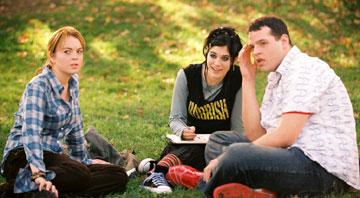 Lindsay Lohan , Lizzy Caplan and Daniel Franzese in Paramount's Mean Girls