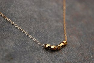 Tiny Gold Nugget Necklace