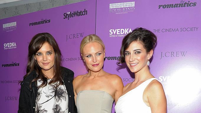 The Romantics NYC Screening 2010 Katie Holmes Malin Akerman Rebecca Lawrence