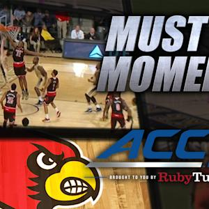 Louisville's Onuaku Seals Win With Last-Second Block | ACC Must See Moment