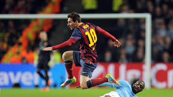 Messi scores as Barca beats Manchester City 2-0