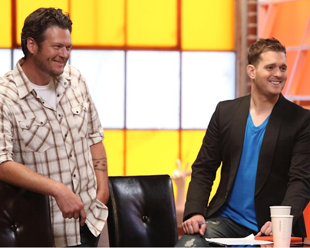 Blake Shelton, left, and Michael&nbsp;&hellip;