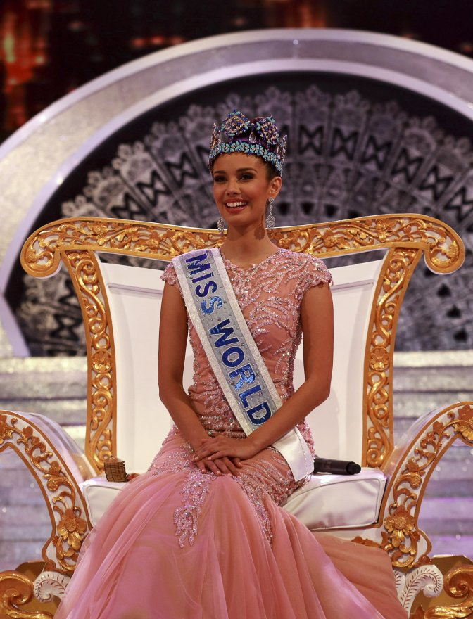 Miss World 2013 Megan Young of the Philippines smiles after being crowed, in Nusa Dua