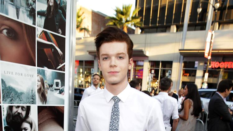 Cameron Monaghan seen at the Los Angeles World Premiere of New Line Cinema's and Metro-Goldwyn-Mayer Pictures' 'If I Stay' held at TCL Chinese Theatre on Wednesday, August 20, 2014, in Hollywood. (Photo by Eric Charbonneau/Invision for Warner Bros./AP Images)