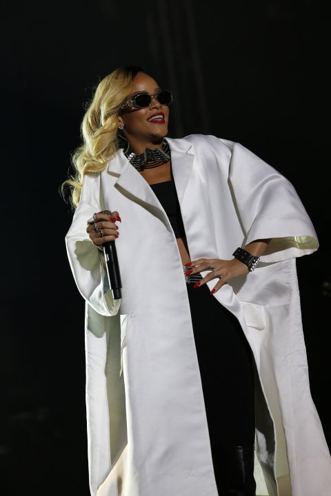 Rihanna performs during the 12th Mawazine World Rhythms international music festival in Rabat