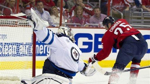 Jets rally from 3 down to beat Capitals 4-3 in OT