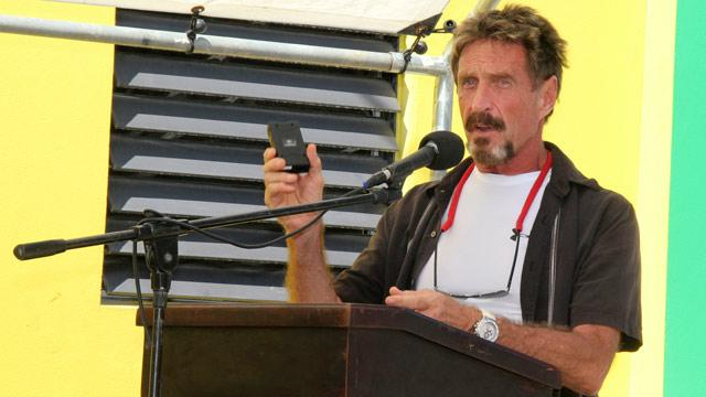 John McAfee Starts Blog While in Hiding