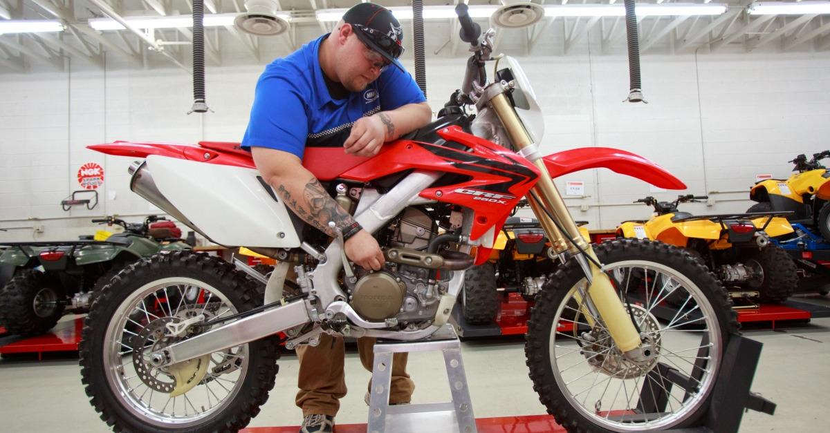 Companies want skilled motorcycle technicians.