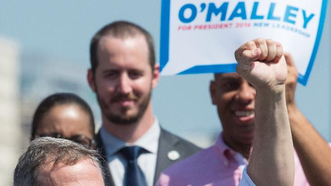 Former Maryland Governor Martin O'Malley announces his intention to seek the 2016 Democratic nomination to run for president, on May 30, 2015, at Fort McHenry in Baltimore, Maryland