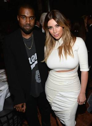 Kanye West and Kim Kardashian attend Dream for Future Africa Foundation Inaugural Gala honoring Franca Sozzani of VOGUE Italia at Spago on October 24, 2013 in Beverly Hills, Calif. -- Getty Images