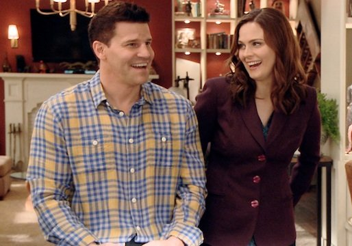 Exclusive Bones Q&A Part 2: David Boreanaz and Emily Deschanel Confirm Spring Wedding, Name- Check Buffy and Castle, Preview &#39;Live&#39; Finale