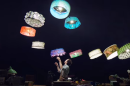 Flying lampshades: Cirque du Soleil plays with drones