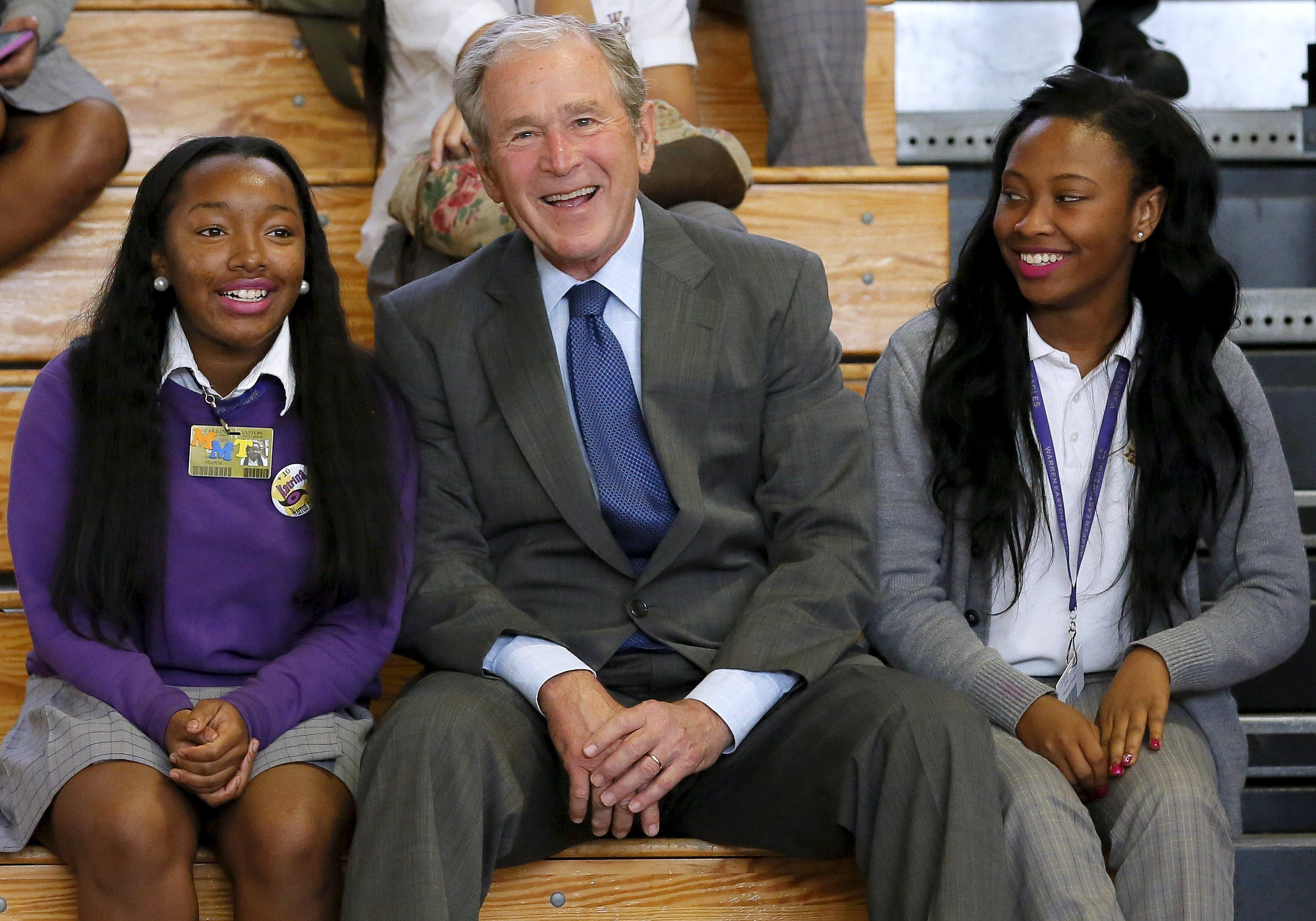 George W. Bush visits disaster zone, 10 years after Katrina