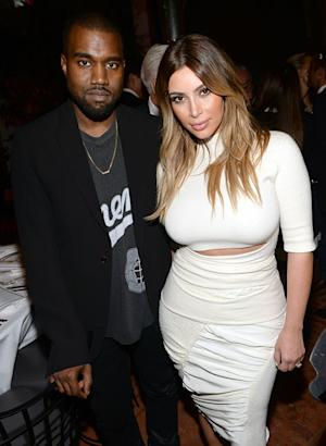 "Kim Kardashian ""Glowing,"" ""In Great Spirits"" on First Post-Engagement Red Carpet With Kanye West: Picture"