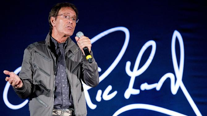 In a picture taken on March 7, 2011, British musician Sir Cliff Richard attends a press conference in London