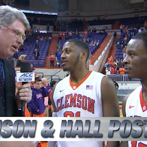 Clemson's Rod Hall & Demarcus Harrison Talk Big Senior Day Win Over Georgia Tech