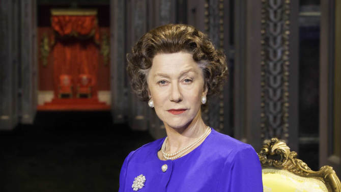 "FILE - This undated file image released by Boneau/Bryan-Brown shows Helen Mirren as Queen Elizabeth II in a promotional photo for Peter Morgan's play ""The Audience."" Mirren will  star in  ""The Audience"" on Broadway. Previews in New York start Feb. 17 and it will run through June at the Gerald Schoenfeld Theatre, directed by two-time Tony Award winner Stephen Daldry. (AP Photo/Boneau/Bryan-Brown, Johan Persson, file)"