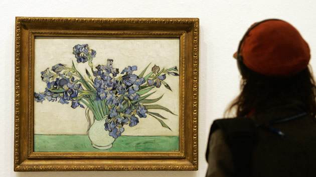 """Irises"" by Vincent van Gogh, 	sold for $53.9 million in 1987."