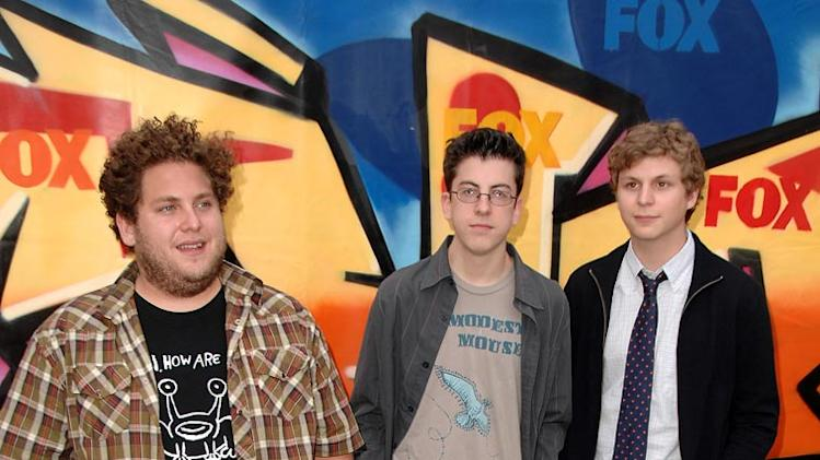 Jonah Hill, Christopher Mintz-Plasse and Michael Cera arrives to the 2007 Teen Choice Awards.