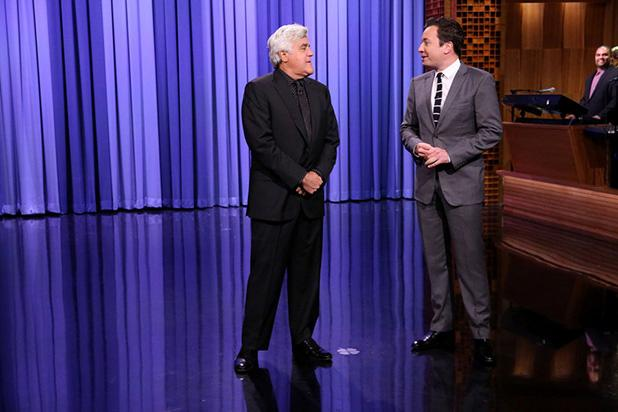Jay Leno Surprises Jimmy Fallon Fans During Monologue on 'Tonight Show'