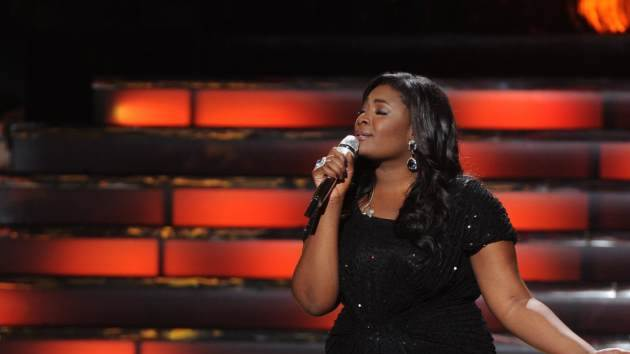 Candice Glover performs after winning the 'American Idol' Season 12 title at the Nokia Theatre L.A. Live, May 16, 2013 -- FOX