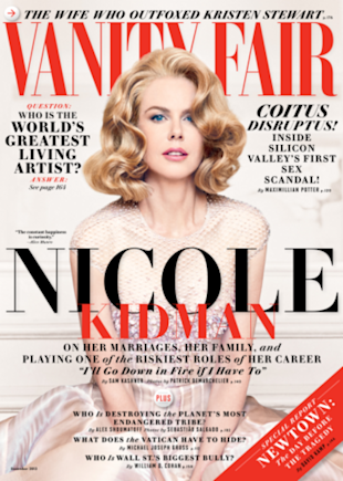 Nicole Kidman on Vanity Fair's December 2013 issue.