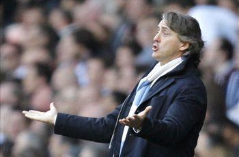 'It was an unlucky season' - Mancini bemoans Manchester City strikers' profligacy