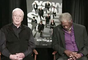 Michael Caine and Morgan Freeman | Photo Credits: Q13 FOX News