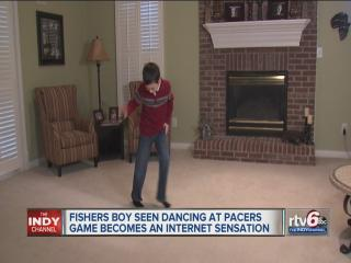 Young dancing fan steals Pacers' spotlight, becomes viral video star