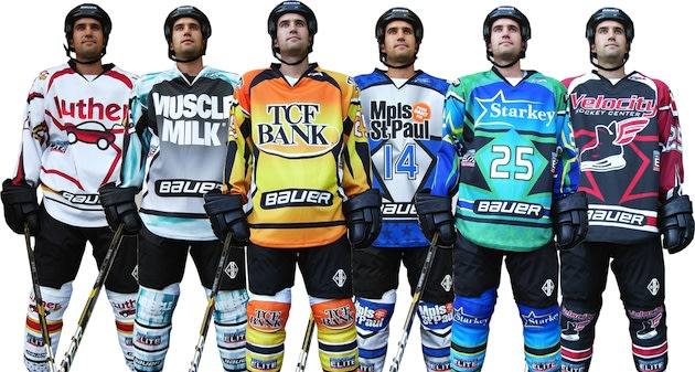 Images of the 2012-13 Upper Midwest Elite League hockey jerseys — Upper Midwest Elite League