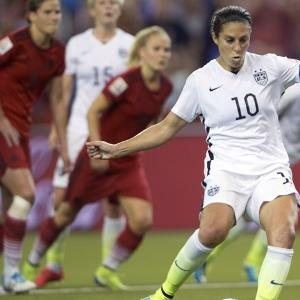 Young Soccer Players Root for Carli Lloyd