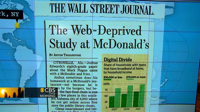 Headlines at 8:30: Students use McDonald's for web access