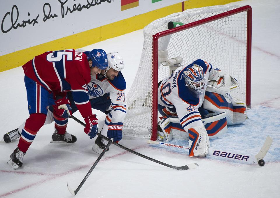 Petry, Jones score in 3rd as Oilers beat Canadiens