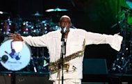 Sipho Mabuse, pictured as he performs during the Mandela Day: A 46664 Celebration Concert at Radio City Music Hall, in 2009, in New York