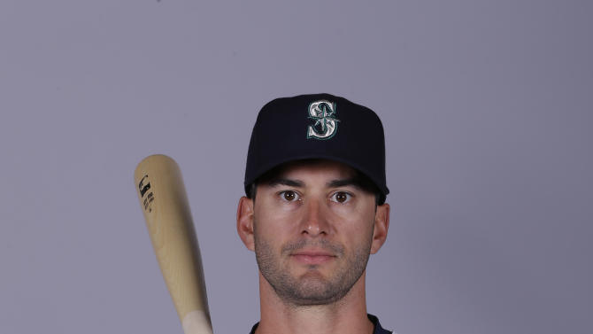 This is a 2015 photo of Justin Ruggiano of the Seattle Mariners baseball team. This image reflects the Seattle Mariners active roster as of Thursday, Feb. 26, 2015, when this image was taken. (AP Photo/Charlie Riedel)