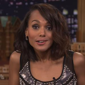 Olivia Pope, Jimmy Fallon Play 'Lip Flip'