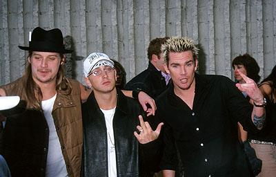 Kid Rock , Eminem and Mark McGrath at the Hollywood premiere of Columbia's Joe Dirt