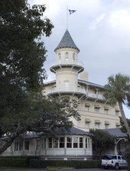 FILE - This Jan. 26, 2005 file photo shows the Jekyll Island Hotel Club on Jekyll Island, Ga. Historic hotels are facing more competitive pressure, continually trying to engage in new marketing campaigns to attract customers. (AP Photo/Stephen Morton, File)